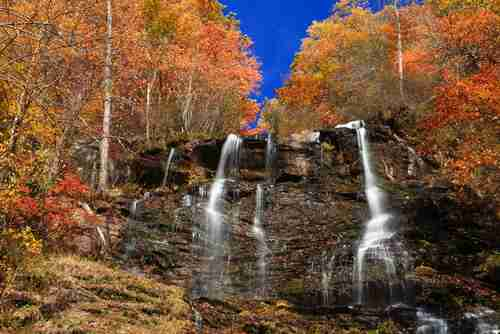 Amicalola Falls during autumn